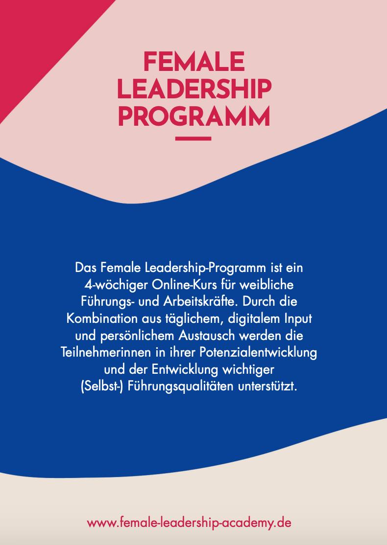 Female Leadership Programm Beschreibung für Arbeitgeber